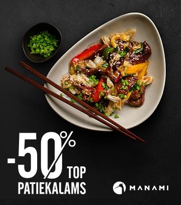 TOP Manami patiekalams -50%
